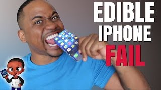 "DIY Edible iPhone 7 FAIL | EATABLE phone cases | Alonzo Lerone(Official ""DIY Edible iPhone 7 FAIL"" video by Alonzo Lerone. Subscribe to see new Alonzo Lerone first: http://bit.ly/22YprBz Previous Video: ..., 2016-04-04T20:00:02.000Z)"