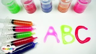 Learn ABC With Slime | Alphabet Slime injection | Learn Colors With Playdoh