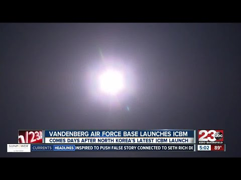 Missile test conducted at Vandenberg Air Force Base Wednesday morning