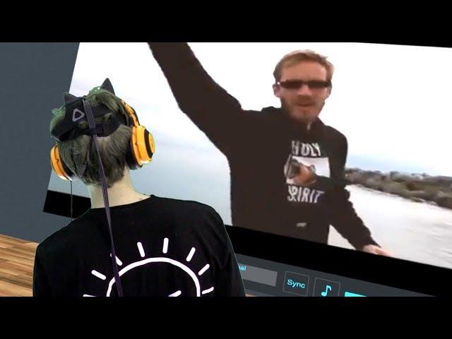 Watching Pewdiepie in VR