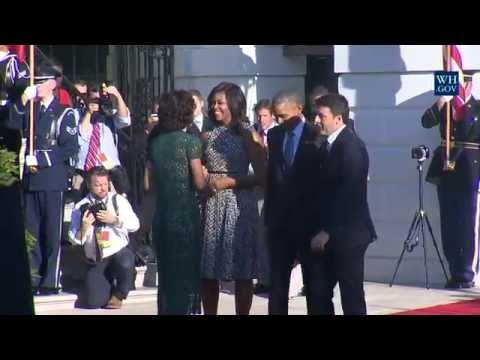 State Arrival Ceremony for Prime Minister Renzi