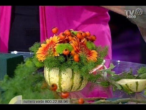 Come realizzare un centrotavola con la zucca e i fiori for Decorazioni con verdure e ortaggi