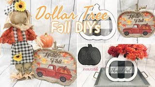FARMHOUSE FALL DECOR | DOLLAR TREE DIY