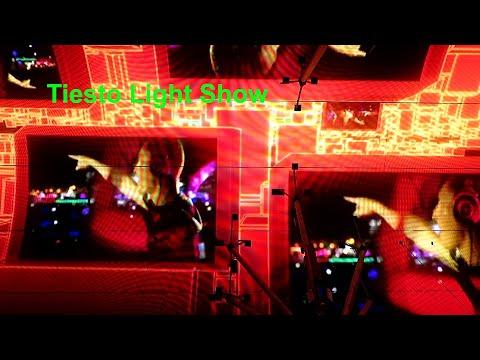 Tiesto Light Show @ Fremont Street Las Vegas 01/14/2020