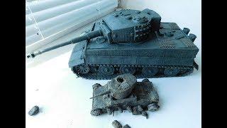 как из пластилина сделать танк тигр