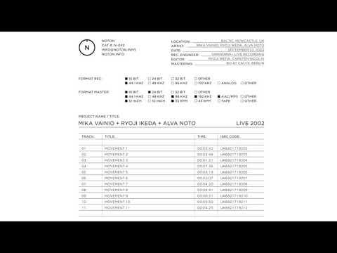 Mika Vainio + Ryoji Ikeda + Alva Noto - Movement 10