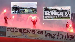 R. Charleroi .S.C. - R.S.C. Anderlecht Tifos & Pyro PO1 RSCA Champions