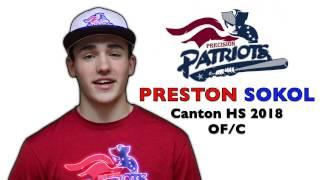 PRESTON SOKOL Baseball Skills Video 032017