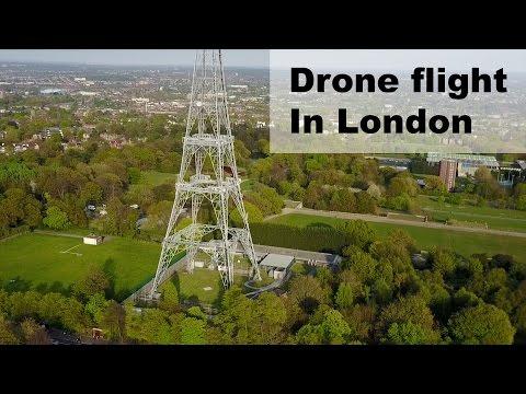 Drone flight over London, Crystal Palace park
