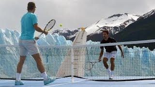 Rafael Nadal vs Novak Djokovic Match At Perito Moreno Glacier 2013 【Full HD】