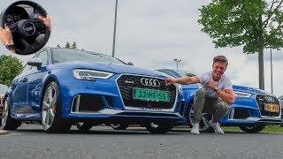 AUDI RS3 TOPSNELHEID TESTEN IN DUITSLAND! - Sedan vs. Sportback