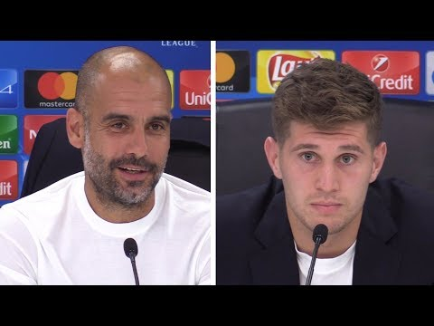 Pep Guardiola & John Stones Pre-Match Press Conference - Feyenoord v Man City - Champions League