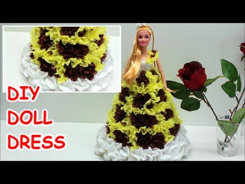 Diy Craft Ideas Tissue Paper Doll Dress Ice Cream Vanilla Doll