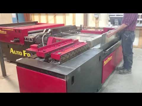Est. 2012 AUTO FOLD 516 Fully Automated Duct Manufacturing Line Consisting Of