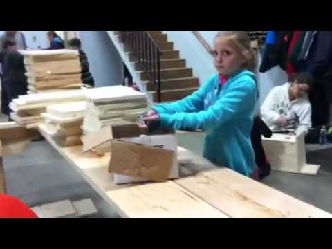 Wood duck house building
