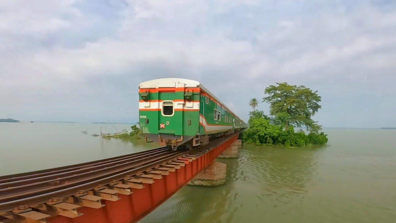 Exclusive view Of Rail Bridge in Bangladesh || PT INKA High speed Kurigram Express || Dilpashar
