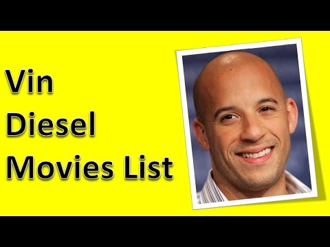 Vin Diesel Movies List - YouTube