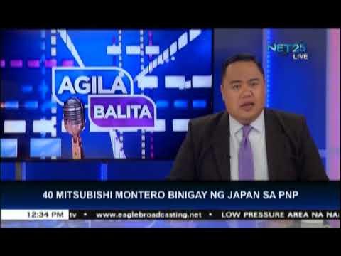 Japanese government donates 40 Mistubishi Montero vehicles to the PNP