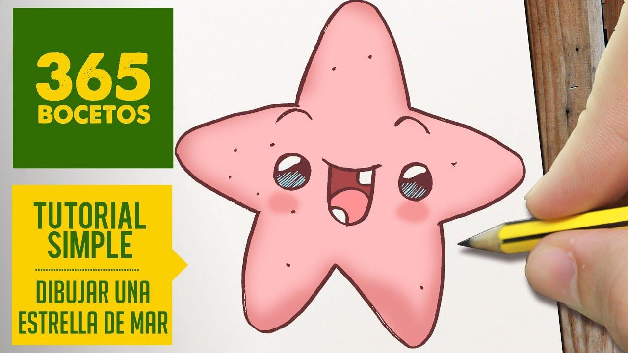 Como Dibujar Una Estrella De Mar Kawaii Paso A Paso Dibujos Kawaii