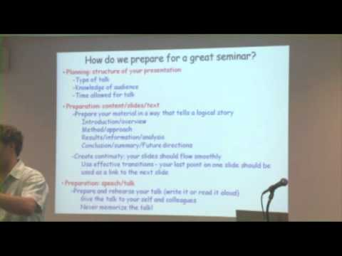 How to Give a Great Science Seminar