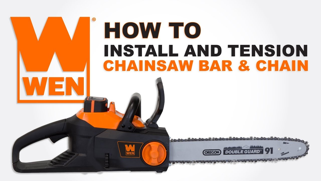 How to install and tension a chainsaw bar and chain youtube how to install and tension a chainsaw bar and chain greentooth Gallery