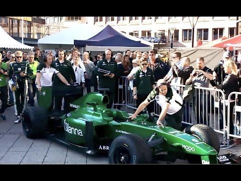 Marcus Ericsson & Caterham F1 in Örebro, Sweden, 2014