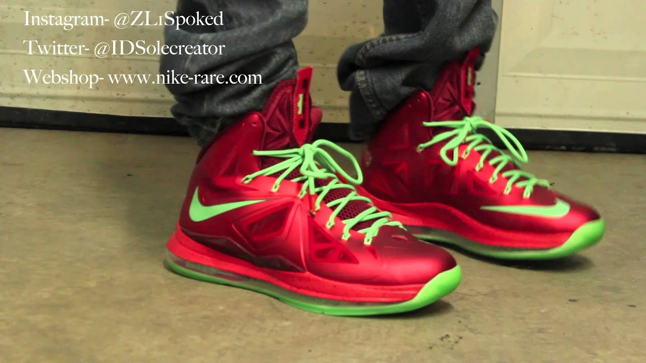 Nike Lebron 10 X Christmas ON FEET- IDSolecreator  HD  - YouTube abfca0fbea9a