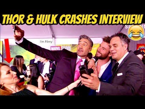 Chris Hemsworth and Mark Ruffalo Interrupts Thor: Ragnarok Director Interview - 2017