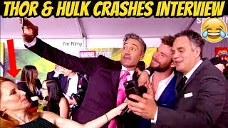 Chris Hemsworth and Mark Ruffalo Interrupts Thor: Ragnarok Director Interview - 2017