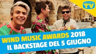 wind music awards 2018 backstage 5 giugno