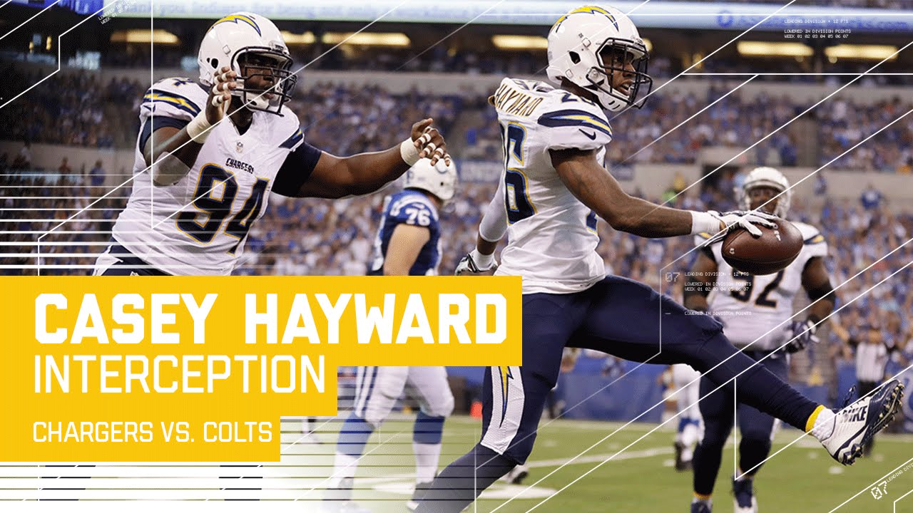 Casey Hayward Picks f Andrew Luck Chargers vs Colts