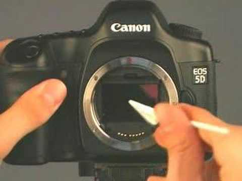 video how to clean canon optical sensor