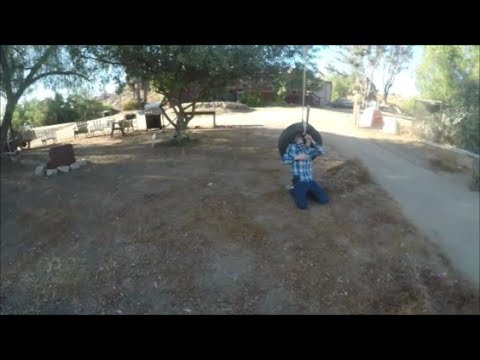 Near Fatal Tire Swing Accident!!!!!!!!