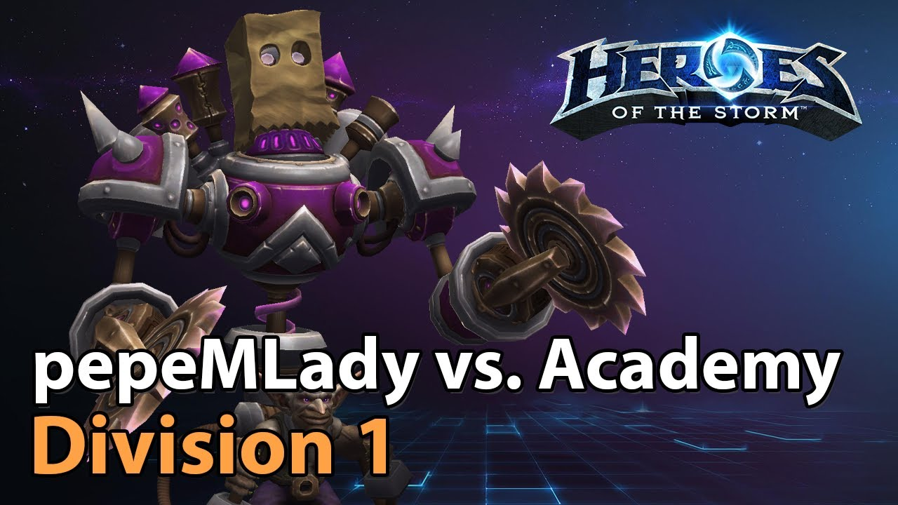 ► pepeMLady vs. Team Academy - Division 1 - Heroes of the Storm Esports