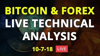 What is next for #Bitcoin & Weekly Forex Analysis - 10/07/18 - LIVE