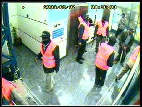 CCTV video of 3/2006 Kenya media crackdown