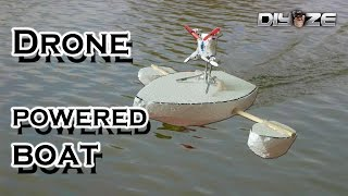 How to make RC boat using DRONE