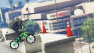 Insane BMX Stunts on Buildings! (GTA 5 Funny Moments)