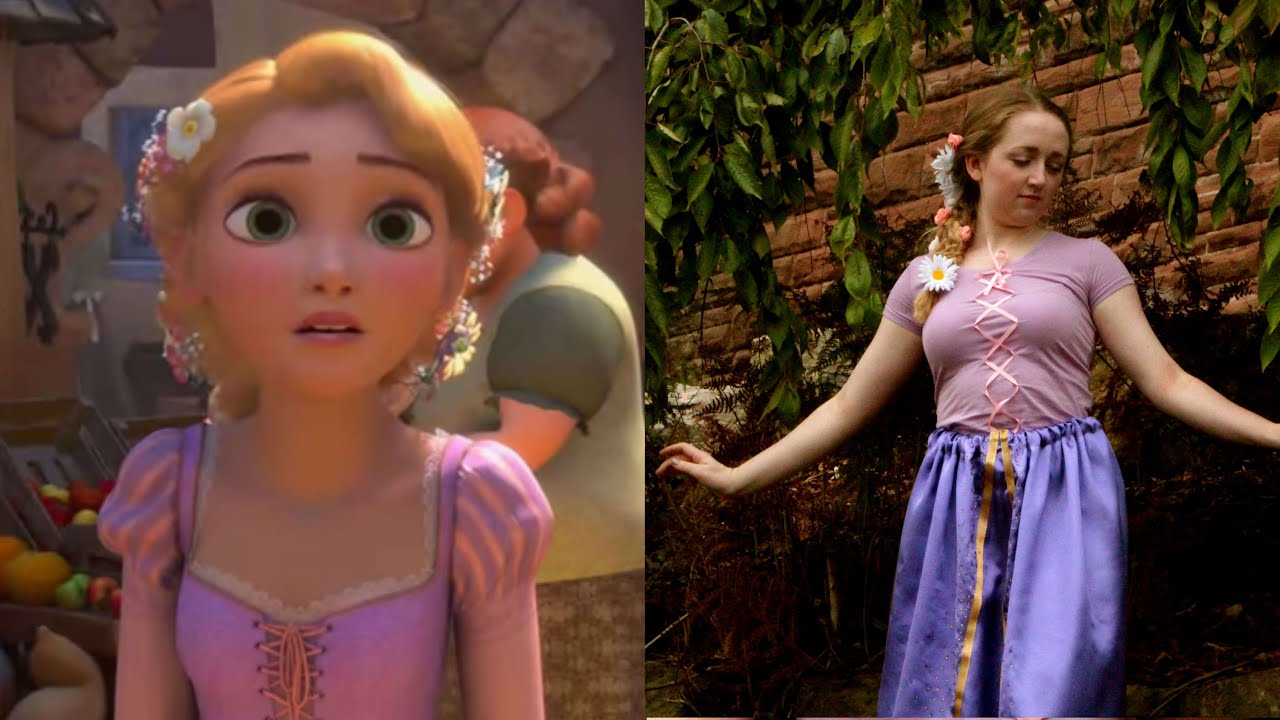 u0027Tangledu0027 Rapunzel Costume - YouTube  sc 1 st  YouTube & Tangledu0027 Rapunzel: Costume - YouTube