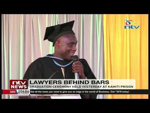 10 inmates at Kamiti prison graduate with law degrees