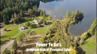 An overview of Power to Be's new program hub at Prospect lake