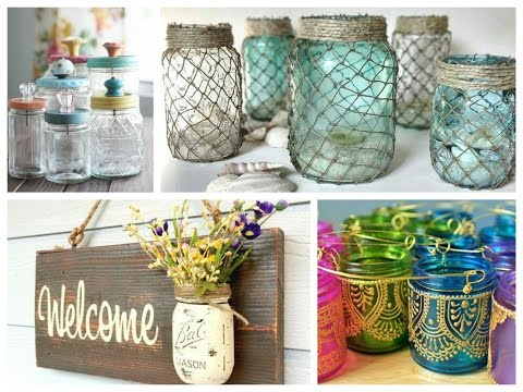 Mason Jar Crafts Inspiration - DIY Room Decoration Ideas - Upcycled Jars Projects