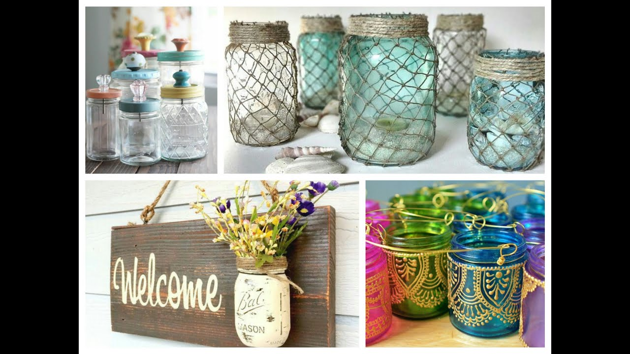 Mason Jar Crafts Inspiration Diy Room Decoration Ideas Upcycled Jars Projects Youtube