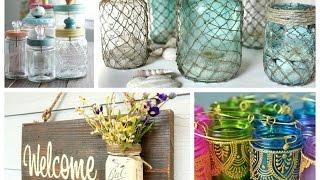 Mason Jar Crafts Inspiration   Diy Room Decoration Ideas   Upcycled Jars Projects