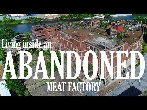 KEN HERON - Living inside an ABANDONED Meat-packing Plant [4K}