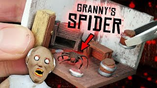 Making GRANNY'S Spider Room Miniature House in POLYMER CLAY!