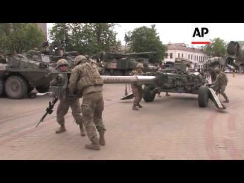 US Forces In Latvia On Military Exercise