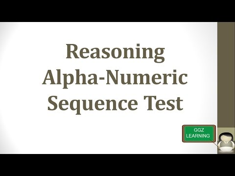 LOGICAL REASONING SHORTCUTS TRICKS FOR COMPETITIVE EXAMS-Alpha Numerical Sequencing[ English ]