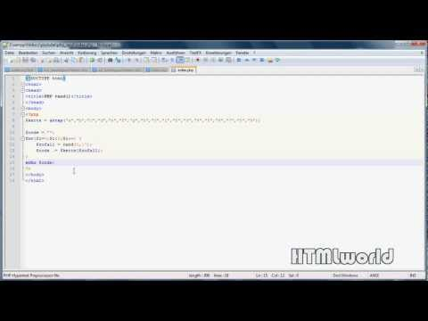 PHP Tutorial: Passwortgenerator Erstellen // Rand()-Funktion // Deutsch