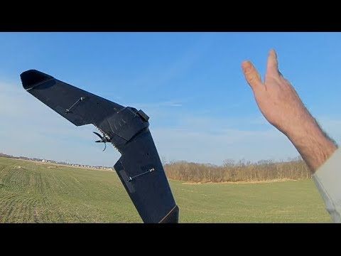 Theer FPV Racing Wing First Flight  DUHHH!! Your Prop Is On Backwards!!!
